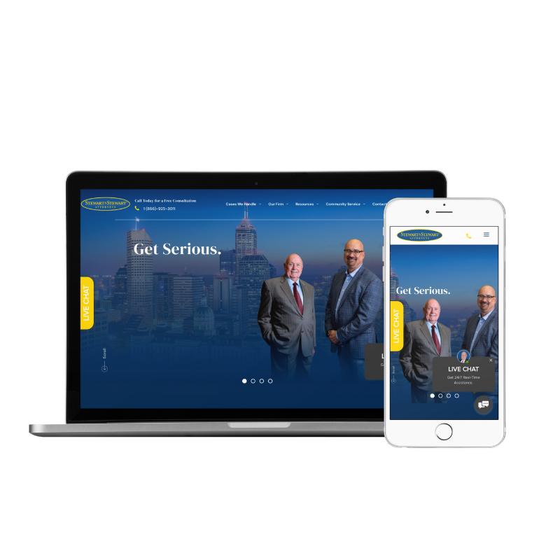 Stewart & Stewart | Website Development by Queen Bee Media
