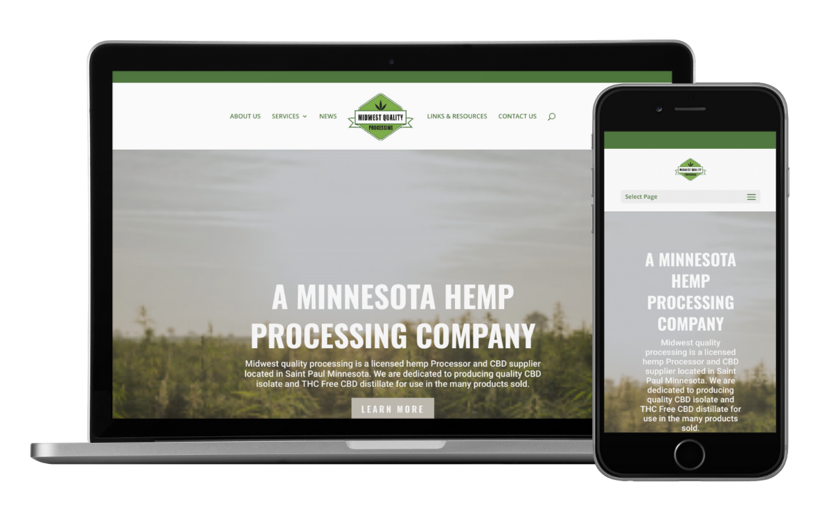 Midwest Quality Processing Website Development by Queen Bee Media