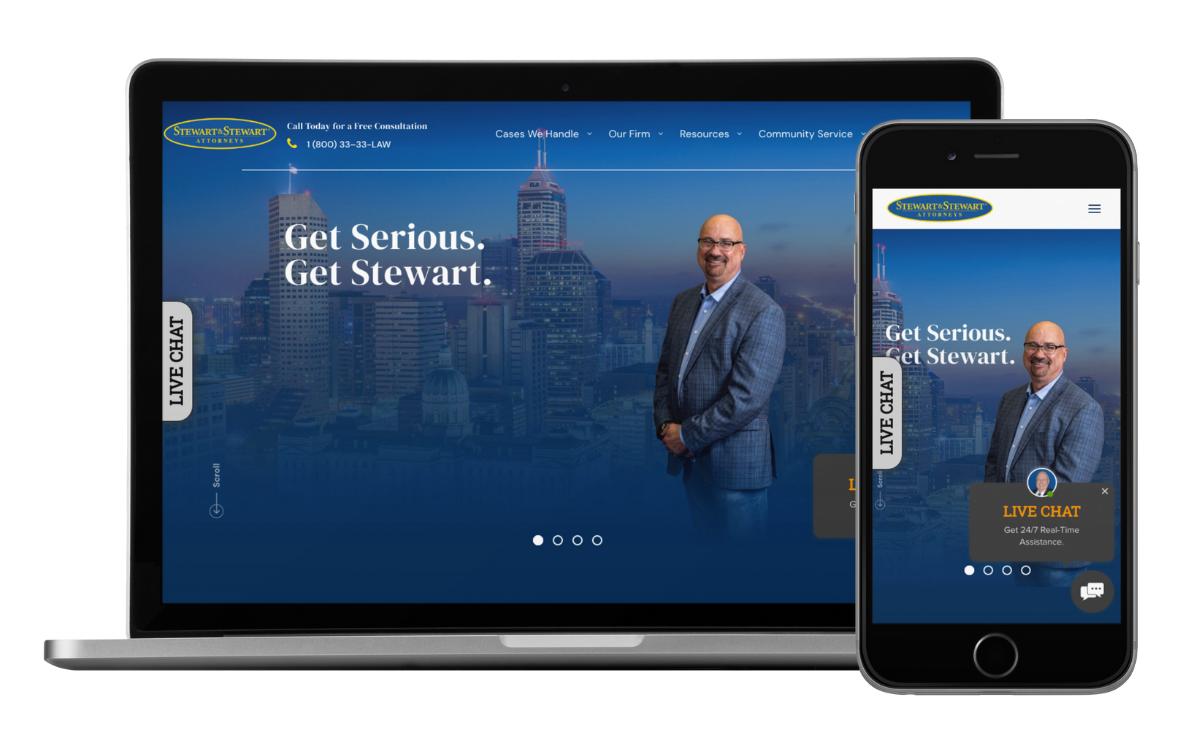 Stewart & Stewart Attorneys Website Development by Queen Bee Media